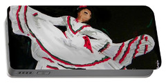 Portable Battery Charger featuring the painting Latin Dancer by Marisela Mungia