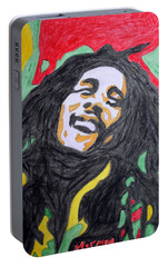 Portable Battery Charger featuring the painting Happy Bob Marley  by Stormm Bradshaw