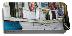 Portable Battery Charger featuring the photograph Laughs On A Shrimpboat by Patricia Greer