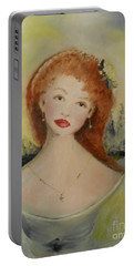 Portable Battery Charger featuring the painting Laurel by Laurie L