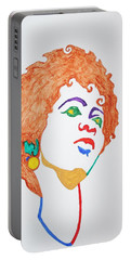 Portable Battery Charger featuring the painting Lauryn Hill  by Stormm Bradshaw