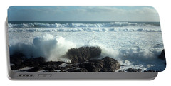Portable Battery Charger featuring the photograph Lava Beach Rocks On 90 Mile Beach by Mark Dodd