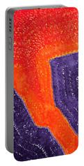 Lava Flow Original Painting Portable Battery Charger
