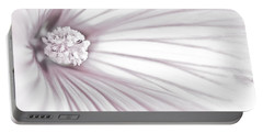 Lavatera Flower Stamen Macro  Portable Battery Charger