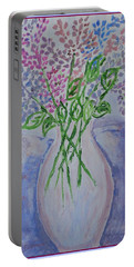 Lavendar  Flowers Portable Battery Charger