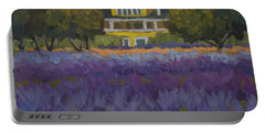 Lavender Farm On Vashon Island Portable Battery Charger