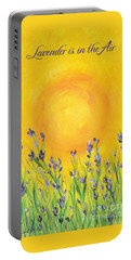 Lavender In The Air Portable Battery Charger by Val Miller