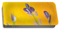 Lavender - Hanging Position 2 Portable Battery Charger by Val Miller