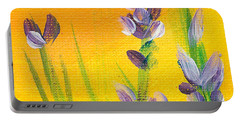 Lavender - Hanging Position 3 Portable Battery Charger by Val Miller