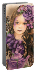 Lavender  Portable Battery Charger by Sheena Pike
