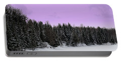 Portable Battery Charger featuring the photograph Lavender Skies by Bianca Nadeau