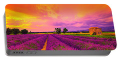 Lavender Sunset Portable Battery Charger by Midori Chan