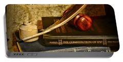 Lawyer - The Constitutional Lawyer Portable Battery Charger by Paul Ward