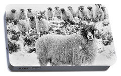 Leader Of The Flock Portable Battery Charger by Janet Burdon
