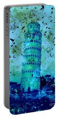 Leaning Tower Of Pisa 3 Blue Portable Battery Charger