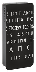 Learn To Dance In The Rain Portable Battery Charger