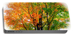 Leaves Changing Colors Portable Battery Charger by Cynthia Guinn