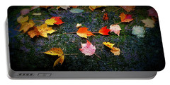 Leaves On Rock  Portable Battery Charger