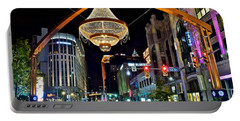 Leaving Playhouse Square Portable Battery Charger by Frozen in Time Fine Art Photography
