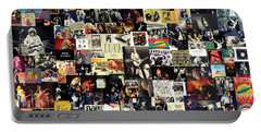 Led Zeppelin Collage Portable Battery Charger by Taylan Apukovska