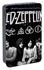 Led Zeppelin Portable Battery Charger by FHT Designs