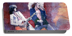 Led Zeppelin Jimmi Page And Robert Plant  Portable Battery Charger