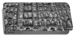 Led Zeppelin Physical Graffiti Building In Black And White Portable Battery Charger