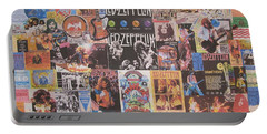 Led Zeppelin Years Collage Portable Battery Charger by Donna Wilson