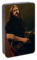 Lemmy Kilmister Painting Portable Battery Charger by Paul Meijering