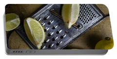 Lemon And Grater Portable Battery Charger by Nailia Schwarz