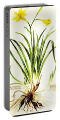 Lemon Daylily Botanical Portable Battery Charger