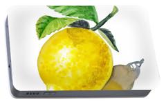 Lemon Portable Battery Charger by Irina Sztukowski