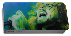 Eddie Vedder - ' Lemon Yellow Sun ' Portable Battery Charger by Christian Chapman Art