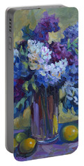 Lemons And Lilacs Portable Battery Charger by Diane McClary