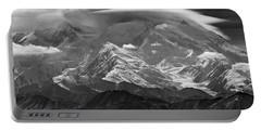 101366-lenticular Cloudcap Over Mt. Mckinley Portable Battery Charger