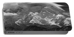 101366-lenticular Cloudcap Over Mt. Mckinley Portable Battery Charger