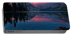 Lenticular Sunset At Tenaya Portable Battery Charger