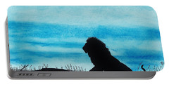 Leo At Sunset Portable Battery Charger