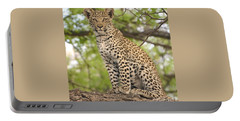 Leopard Cub Gaze Portable Battery Charger