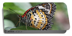 Leopard Lacewing Butterfly Portable Battery Charger by Judy Whitton
