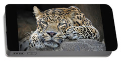 Portable Battery Charger featuring the photograph Leopard by Savannah Gibbs