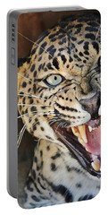 Leopard Snarling Portable Battery Charger
