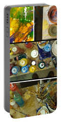 Portable Battery Charger featuring the photograph Les Couleurs by Sir Josef - Social Critic - ART