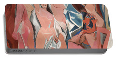 Les Demoiselles D Avignon Portable Battery Charger