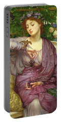 Lesbia And Her Sparrow Portable Battery Charger by Sir Edward John Poynter