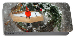 Portable Battery Charger featuring the photograph Let It Snow by Nava Thompson