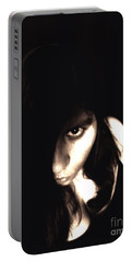 Let The Darkness Take Me Portable Battery Charger by Vicki Spindler