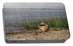 Portable Battery Charger featuring the photograph L'etang by Hanny Heim
