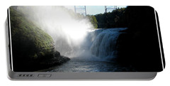 Letchworth State Park Upper Falls And Railroad Trestle Portable Battery Charger