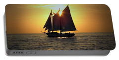 A Key West Sail At Sunset Portable Battery Charger